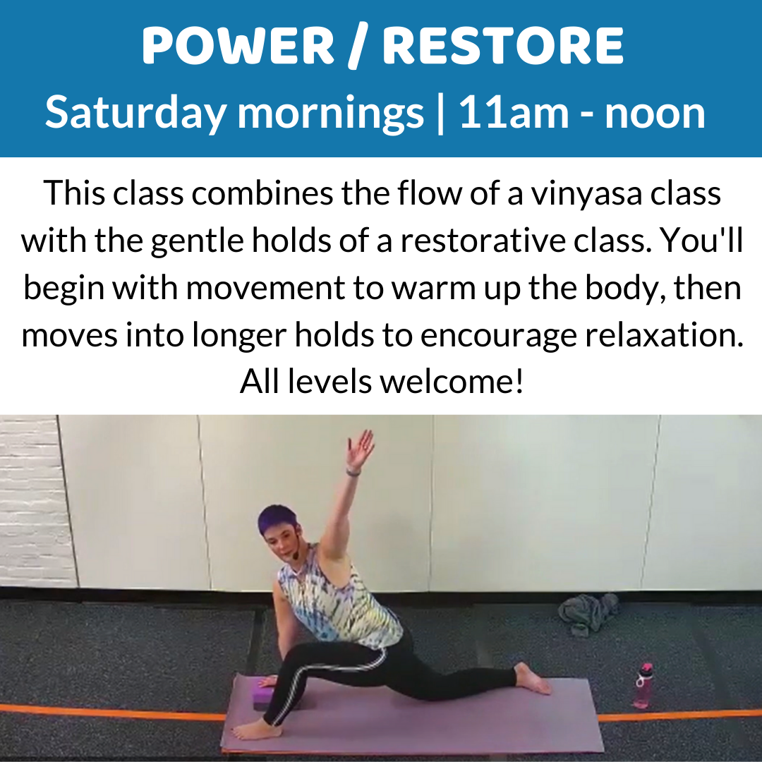 Power / Restore Saturdays at 11am